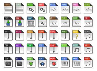Filetype Icons - Design ''Kapiku Classic'' - Set 2