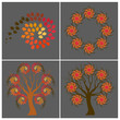 Autumn spiral shapes