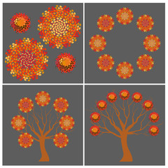 Autumn round shapes