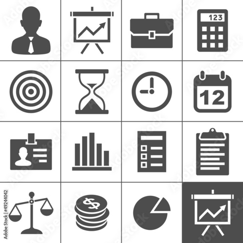 Business icons set - Simplus series
