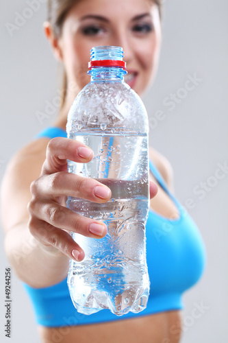 Water in a fitness bottle