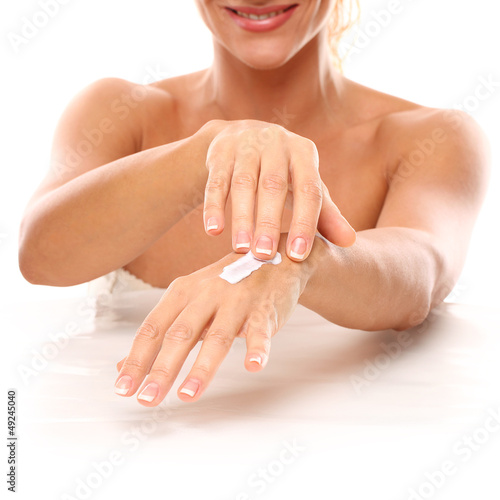 Closeup image of hands in SPA