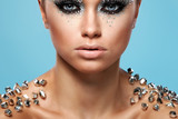 Fototapety Portrait of woman with artistic make-up
