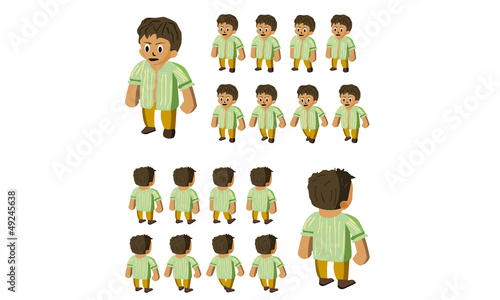 western farmer vector cartoon