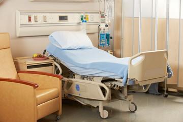 Empty Bed On Hospital Ward