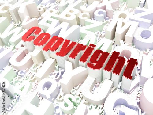 Advertising concept: Copyright on alphabet