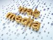 SEO web design concept: Golden Web Media on digital background