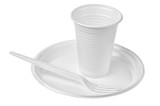 plastic plates and glasses