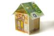 Haus aus Euro Geld