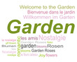 Garten Romantik Tag Cloud Wörter