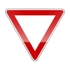 verkehrszeichen v2 vorfahrt achten I