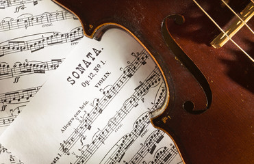 Violin and scores
