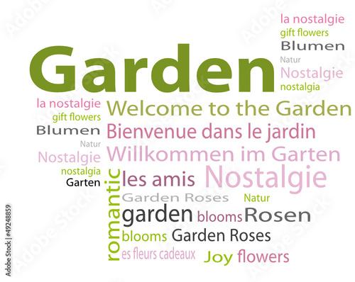 Garten Cloud Wörter