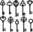 antique skeleton keys - 49249656