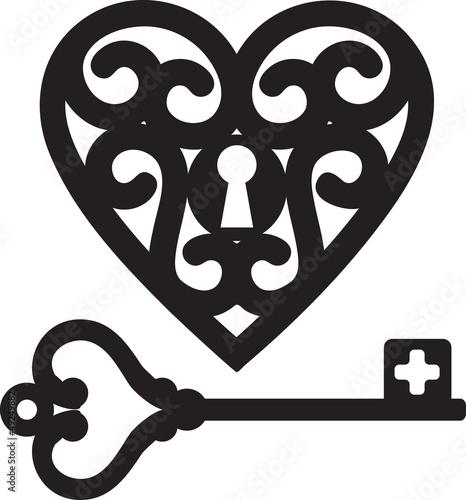 heart and skeleton key