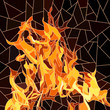 Vector of fire in mosaic.