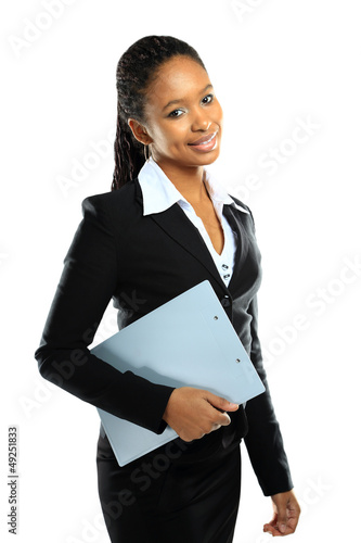 Portrait of happy African American business woman
