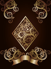 Diamond  ace poker playing cards, vector illustration