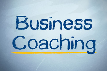 Kreidetafel mit Business Coaching