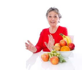 Großmutter schwört auf gesunde Ernährung im Alter