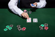Croupier dealing cards