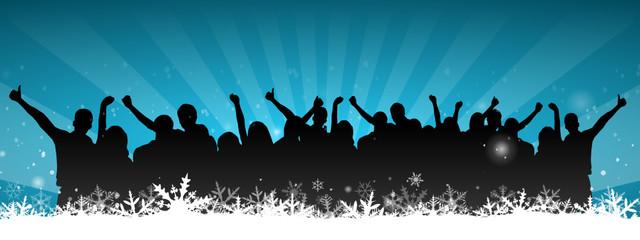 Menschen Party Schnee
