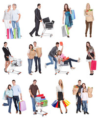 Shopping people