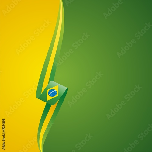 Brazilian left side yellow color brochure cover vector