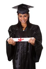 Graduate Woman Holding Certificate
