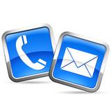 Telefon und e-Mail - buttons