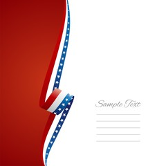 US left side brochure cover vector