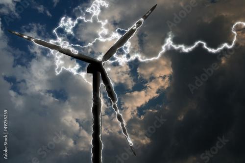 canvas print picture Windenergie
