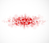 Happy valentine day fade background with love hearts card