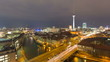 Berlin Skyline City with Car Traffic Timelapse in Full HD
