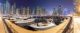 Dubai Marina Night Pano