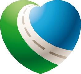 Logo love travel