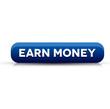 Earn money button blue