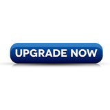 Upgrade now button blue poster