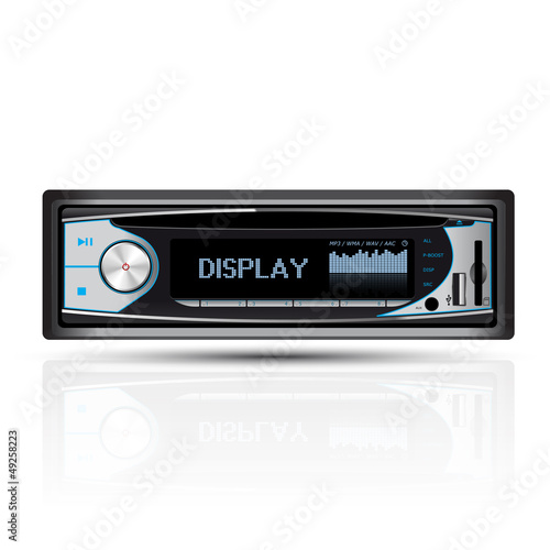 Car radio blue