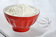 Flour in red pot