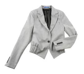 Grey bolero blazer