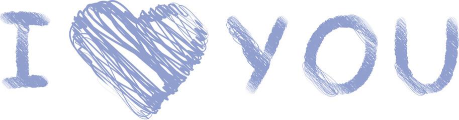I love you - hellblau - Liebe - Herz - Romantik