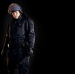 Law Enforcer Ready for Crowd Control