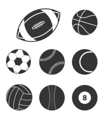 Sports balls icons icons