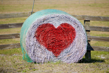 Hay Bale Valentine