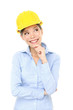 Engineer, entrepreneur or architect woman thinking