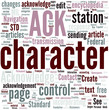 Acknowledge character Concept