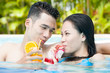 Young people in swimming pool