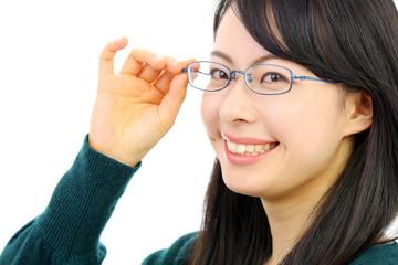 メガネをかけた女の子