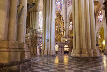 Interior of Cathedral in Toledo Spain